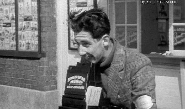 walking pictures cameraman Brighton 1947