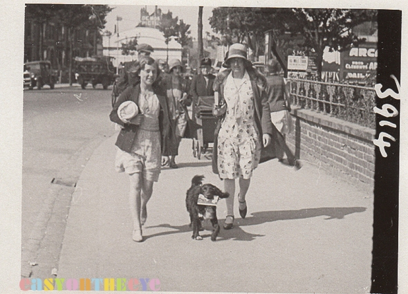skegness walking picture with dog